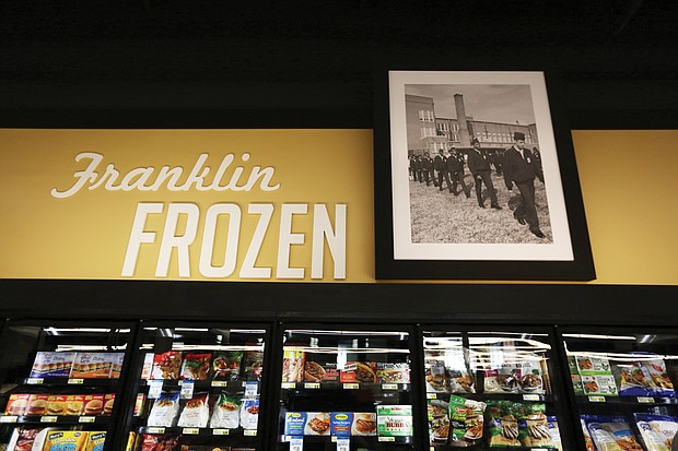 Aisles and food sections at the new store are named after significant landmarks in the East End community. Historic photos also adorn the walls. The Franklin Frozen Food section is named for Franklin Military Academy on North 37th Street in the East End.