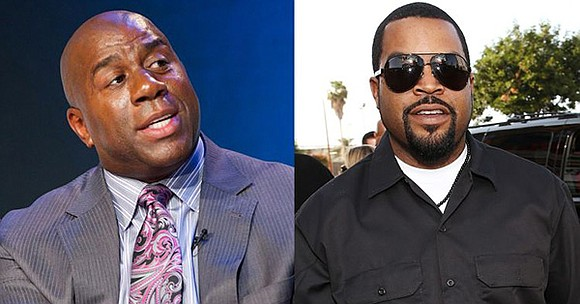 "Basketball legend and entrepreneur, Earvin ""Magic"" Johnson, is joining the bidding group of rapper, actor, and entrepreneur, O'Shea ""Ice Cube"" ..."