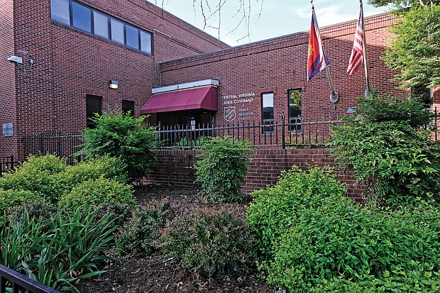 The Salvation Army plans to move from its current Central Virginia headquarters and shelter at 2 W. Grace St., left, to a larger property at 1900 Chamberlayne Ave., just north of School Street.