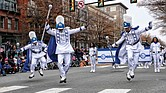 Hampton University Marching Force at 2017 Christmas Parade in Richmond.