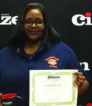 This week the Citizen celebrates Teacher Appreciation Week by honoring Cynthia Brawner, a third-grade teacher from James Wadsworth Elementary in Woodlawn. Photo Credit: Chicago Citizen Newspaper