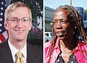 Ted Wheeler (left) and Jo Ann Hardesty.