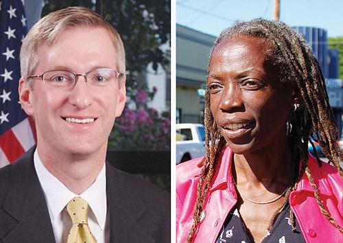 Ted Wheeler (left) and Jo Ann Hardesty.