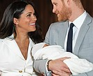 Prince Harry and Meghan Markle present their new son to the world on Wednesday during a brief photo session in St. George Hall at Windsor Castle, where their wedding reception was held last May. Master Archie was born at 5:26 a.m. Monday, weighing 7 pounds, 3 ounces.