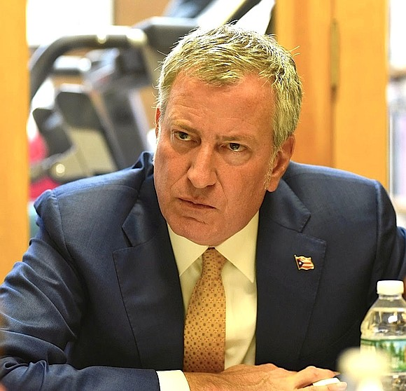 The race is over for Mayor Bill de Blasio.