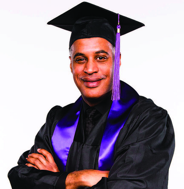 Olive-Harvey Valedictorian, Robert Newson (pictured), waited almost 30 years to start college and despite the challenges he faced as a full-time employee, parent, and college student, he was able to graduate with honors. Photo Credit: City Colleges of Chicago