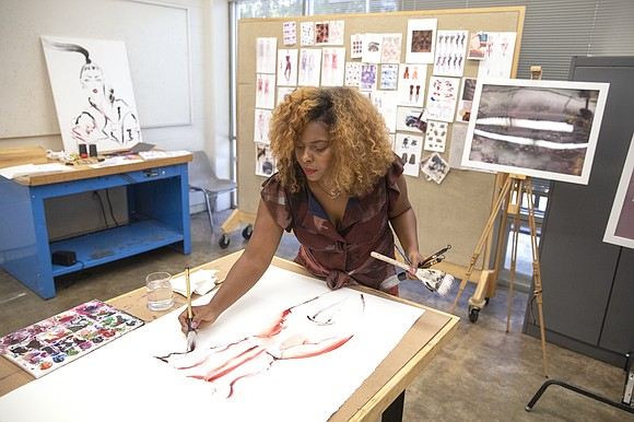 As a fashion illustrator, Kris Keys creates art from real life, in real time.