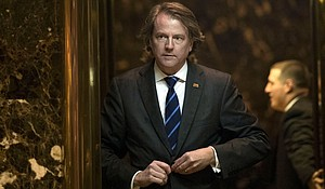 Don McGahn, general counsel for the Trump transition team, gets into an elevator in the lobby at Trump Tower, November 15, in New York City.