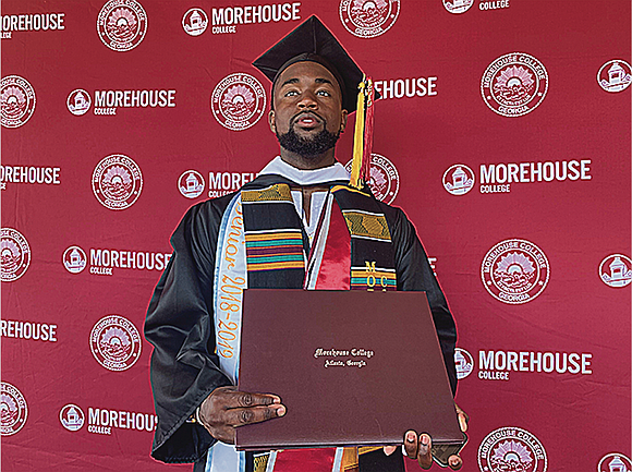 Like millions of other college graduates in America, Harlemite Elijah Dormeus, 22, was seated during his commitment ceremony donning his ...