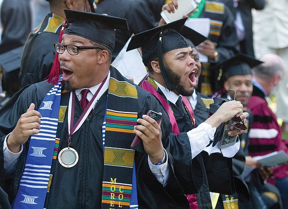 Commencement was a red-letter day for Morehouse College graduate Monte Hathaway of Henrico County and his family. That's when the ...