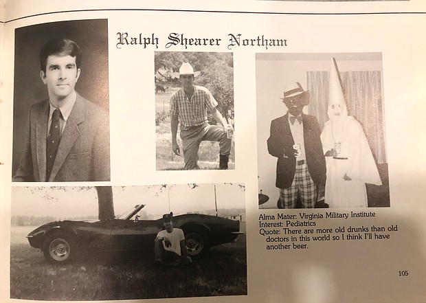 The racist photo on Gov. Ralph S. Northam's 1984 yearbook page from Eastern Virginia Medical School touched off a national firestorm and launched an EVMS-funded probe when it was posted on a conservative website in early February.