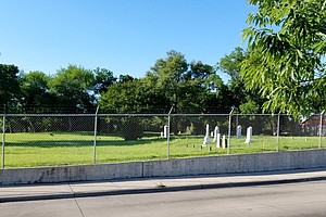 """The designated """"Colored Cemetery"""" of the Arlington Heritage Memorial Grounds."""