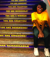Fatimah is a senior at Bowen High School who will soon graduate and begin her college career at Dennison University. Photo Credit: Katherine Newman
