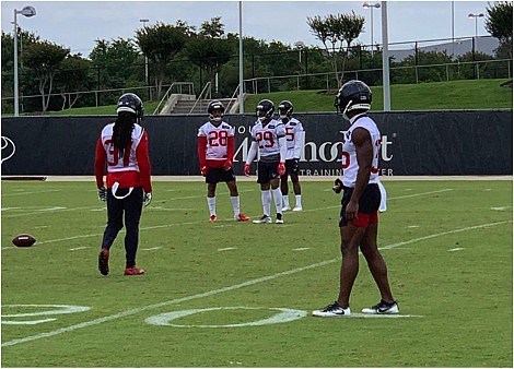"""They line up in a bunch formation and they all have the same moves coming off the line,"" says Texans ..."