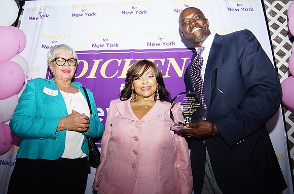 A garden party given by Assemblymember Inez E. Dickens last Saturday in Harlem was a vibrant mixture of awards celebration, ...