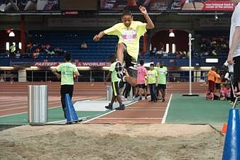 The eighth annual Uptown Games held at the New Balance Track & Field Center at the Armory in Washington Heights ...