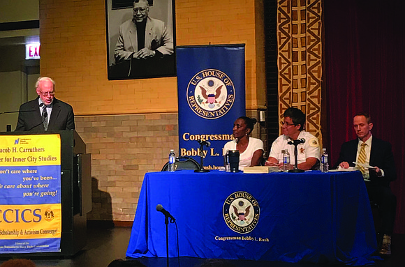 Illinois Congressman Bobby Rush recently hosted a community meeting at the Jacob H. Carruthers Center for Inner City Studies, 700 ...