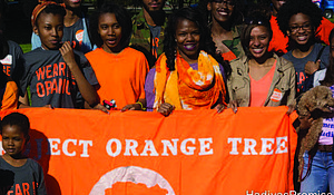 The fifth annual Orange Day Peace Party was recently held in Hadiya Pendleton Park to call for an end to gun violence in Chicago. Photo Credit: Hadiya's Promise