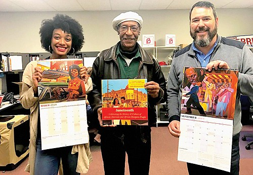 Portland artist Isaaka Shamsud-Din has created 2019-2020 calendars to honor Juneteenth and highlight significant people, places and events in the ...