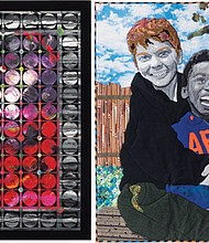 "A quilt by Judith Quinn Garnett is from a collection of art quilts made in Portland that are on display this summer at the Oregon Historical Society (left) and 'Equal Value, Different Shades"" is the title of Sherri Culver's creative quilt."