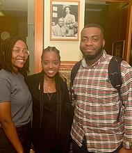 Fikiswa Tsabedze, Tamika Mallory and Chinedu Onyemaobi