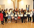 "Armstrong High School's top seniors show off the framed certificates they received at the school's second annual scholars luncheon held June 4 at the Black History Museum and Cultural Center of Virginia. The 24 scholars all have GPAs of 3.0 or higher. Armstrong Principal Willie J. Bell also presented them with an academic achievement medal and a copy of the Dr. Seuss book, ""Oh, the Places You'll Go!"" Armstrong seniors honored at the event: Tar'Quasia Bell, Laura Blackwell (valedictorian), Nia'Sha Burroughs, Alexis Burwell, Jamira Commander, Andromeda Cooper, Keshae Elliotte, Makiah Gayles, Alia Harris, Khaliq Harris, Talil Harvey, Jacob Heinrich, Andre Jackson, Shaijzuan Jones, Precious King, Kiera Lewis, Johnae Macklin-Terry, Kiaira McCray, Joi Miles, Sharnay Moore, Corvell Poag (salutatorian), Damon Robinson, Sameerah Seaman and De'Jah Waller."