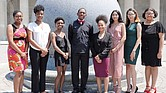 Richmond Public Schools valedictorians, from left: Jordan Baker of Community High, Lahjae White-Patterson of Huguenot, Laura Blackwell of Armstrong, William Wilkins of Franklin Military Academy, Alexis Stokes of John Marshall, Chantal Hernandez of Open High, Majestic Colley of George Wythe and Cozette Bell-Ferguson of Thomas Jefferson. (Richmond Public Schools photo)