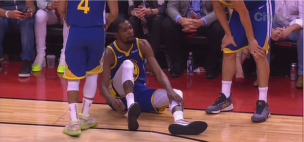 Kevin Durant, who injured his Achilles  on Monday night in Game 5 or the NBA Finals, will still be a priority free- agent target of several teams this summer.