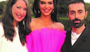 Ann-Sofie Johansson, Kendall Jenner and Giambattista Valli