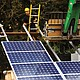 Solar panels are lifted into place for the Oregon Solar Highway Demonstration Project. The archive photo is from the Oregon Department of Transportation.