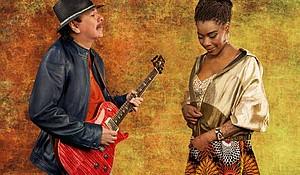 Carlos Santana and Buika by Maryanne Bilham
