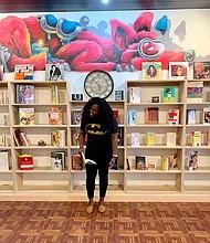 Semicolon owner, Danielle Mullen, inside of her store