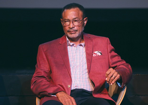 Johnnie Ashe, brother of Arthur Ashe, discusses the path forward for the Richmond community at the Arthur Ashe Social Justice Forum last Thursday at the Virginia Museum of Fine Arts.
