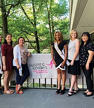 Miss Black Oregon US Ambassador 2019 Arya Morman joins members of the Susan G. Komen Oregon and Southwest Washington team to promote breast cancer education.