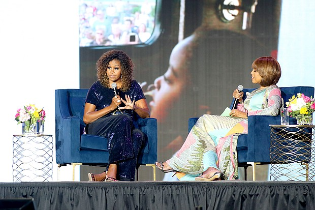 Michelle Obama and Gayle King at the ESSENCE Music Festival in New Orleans, LA