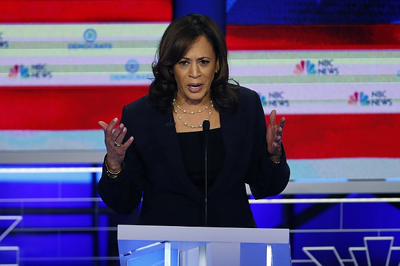 """California Sen. Kamala Harris defended House Speaker Nancy Pelosi in a new interview, stating that she has had """"a different ..."""