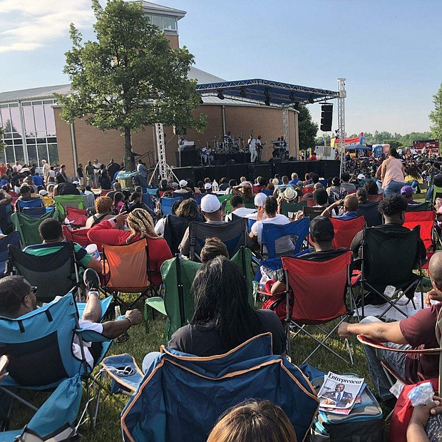 Hundreds of residents and neighbooring communities gather for the Matteson Outdoor Music Festival