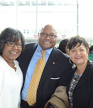 8th Ward Ald. Michelle Harris, Doovon Pepper and Tany Cohn. Photo by Jerome Simmons