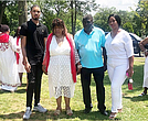 Gwen Carr and the family of Eric Garner