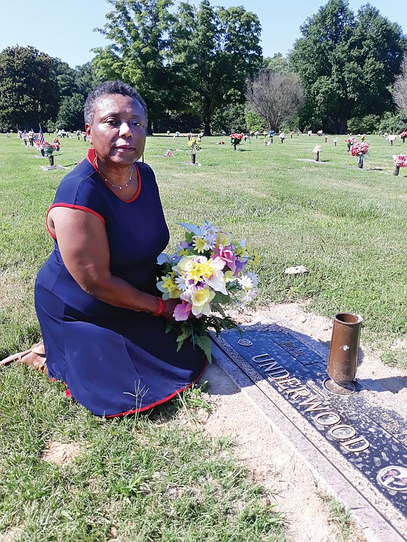 Adeline U. Clarke finally has the elaborate marker she paid to have installed at her parents' graves in Forest Lawn ...