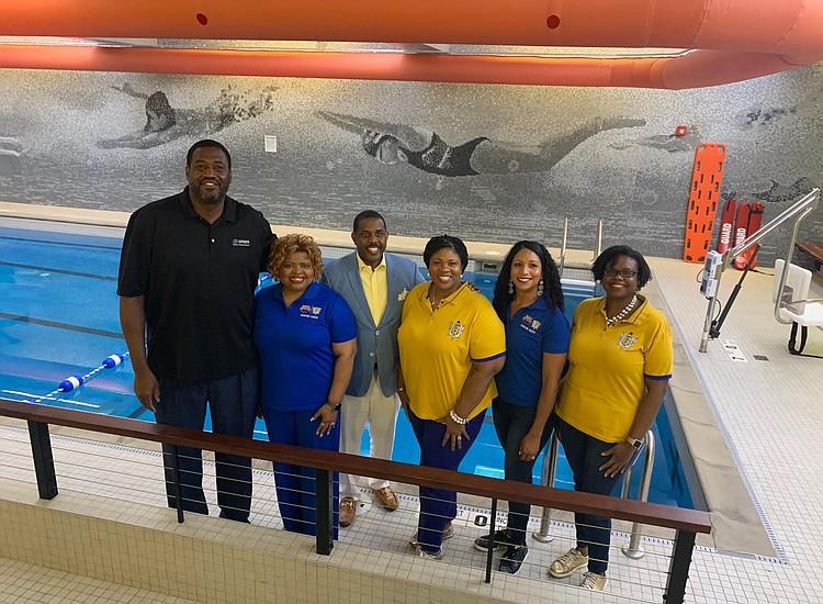 Sen  Kevin Parker, Sigma Gamma Rho & USA Swimming teach