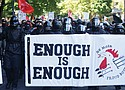 Mask-clad people on the political spectrum, from the extreme left such as Rose City Antifa or the far right like the Proud Boys, have become routine during protests in downtown Portland, including this demonstration on June 29 that later turned violent. Police Chief Danielle Outlaw has raised the issue of the concealed identities as emboldening some of the violence that has been occurring, but would banning masks violate constitutional protections? The Portland Observer looks at the issues.