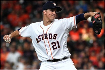 RHP Zack Greinke made his Astros' debut in front of the largest crowd in attendance for a game this year ...