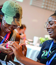 Nearly 60 teenaged girls recently spent the week on campus at the Illinois Institute of Technology in Bronzeville for the Exelon Foundation's second annual STEM Innovation Leadership Academy. Photo Credit: Exelon Foundation