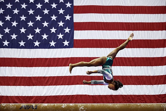 Simone Biles made history more than once this weekend during the US Gymnastics Championships in Kansas City, Missouri.