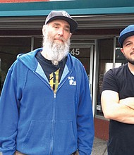 "Jeff McCall (left) and Grant Burgess are the creators of ""Midschool,"" a new inclusive and low barrier digital music education program in Gresham."