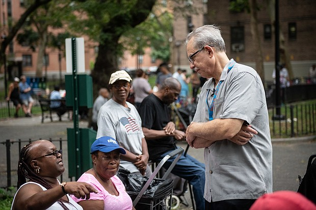 NYCHA's new Chair & CEO Greg Russ speaks with residents