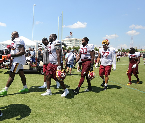 Seven down and one to go. The Washington NFL team concluded its preseason workouts last Sunday at the Bon Secours ...