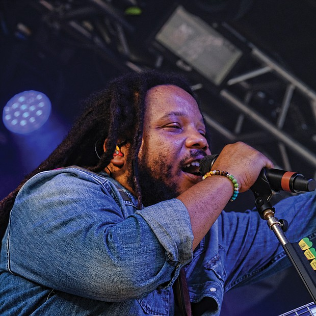 Stephen Marley gets into a reggae growl on Sunday afternoon at the 10th Annual Richmond Jazz and Music Festival at Maymont.