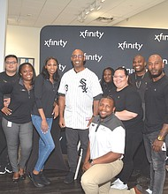 Xfinity Team joins BHOF Harold Baines for a picture perfect souvenir photos